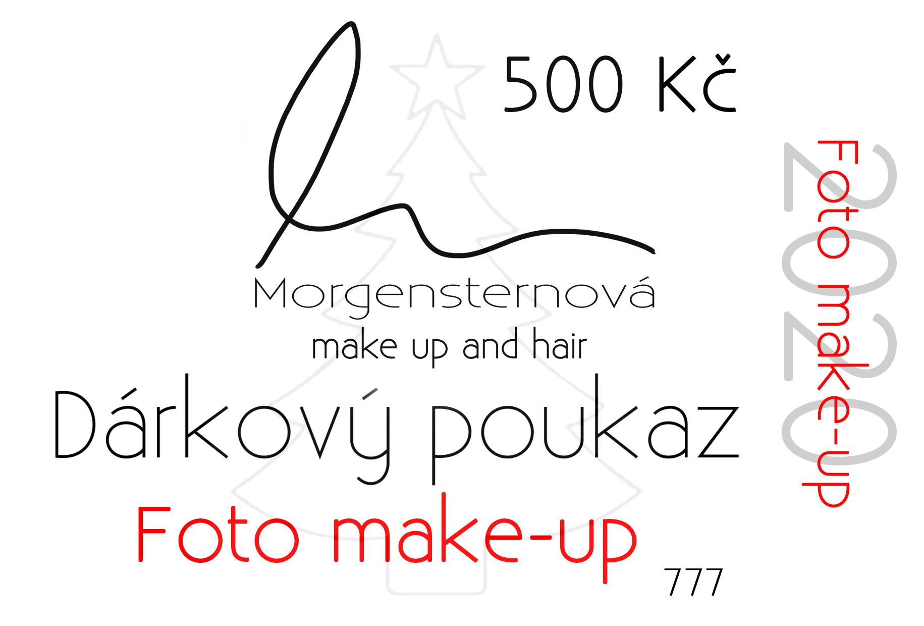 dárkový poukaz minikurz líčení foto make-up vizážistka